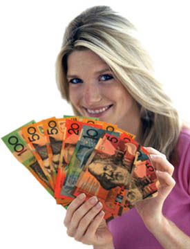 Lady with Australian Payday loan